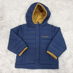 Columbia blue hooded puffer toddler jacket 2t NWOT